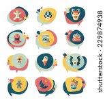 halloween bubble speech banner... | Shutterstock .eps vector #229874938