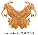 ornamental element in gold on...   Shutterstock . vector #229875844