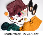 Burgundy Colored Leather Bag...