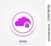 cloud computing lock icon  ...