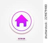vector home icon. house button...