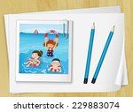 bondpapers with a picture frame ... | Shutterstock .eps vector #229883074