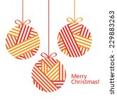 christmas decorations.... | Shutterstock .eps vector #229883263