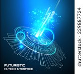 futuristic interface  hud  ... | Shutterstock .eps vector #229887724