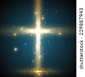 Shining Cross On Blue...