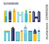 Skyscraper Building Icon Set....