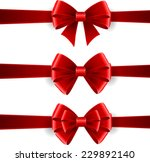 set of red bows isolated on... | Shutterstock .eps vector #229892140