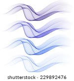 abstract blue isolated waves | Shutterstock .eps vector #229892476
