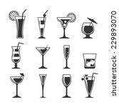 cocktails set. | Shutterstock .eps vector #229893070