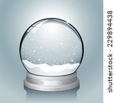 silver snow globe   realistic... | Shutterstock .eps vector #229894438