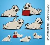 harp seal | Shutterstock .eps vector #229896100