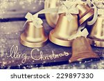 christmas background with pine...   Shutterstock . vector #229897330