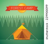 Forest Camping Vector Concept...