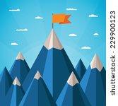 vector success or leadership...   Shutterstock .eps vector #229900123