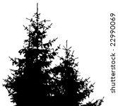 christmas tree silhouette | Shutterstock .eps vector #22990069