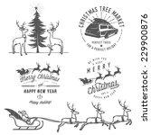 vintage christmas labels ... | Shutterstock .eps vector #229900876