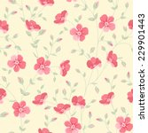 floral seamless pattern on... | Shutterstock .eps vector #229901443