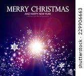christmas background. vector... | Shutterstock .eps vector #229906663