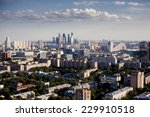 above view of moscow cityscape... | Shutterstock . vector #229910518