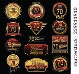 anniversary golden label... | Shutterstock .eps vector #229911910