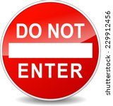 illustration of do not enter... | Shutterstock .eps vector #229912456
