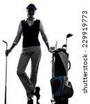 Woman Golfer Golfing Silhouette ...