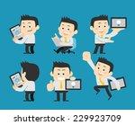 businessman set | Shutterstock .eps vector #229923709