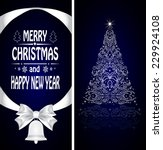 christmas card with a christmas ... | Shutterstock . vector #229924108