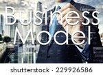 businessman writing business... | Shutterstock . vector #229926586