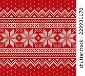 christmas sweater design.... | Shutterstock .eps vector #229931170
