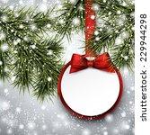 christmas paper card. winter...   Shutterstock .eps vector #229944298