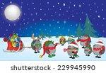 cute looking christmas... | Shutterstock .eps vector #229945990