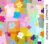 floral seamless pattern...   Shutterstock .eps vector #229946770