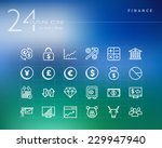 finance outline icons set for...