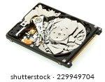 broken hard drive disk  macro... | Shutterstock . vector #229949704