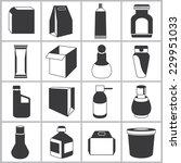 packaging icons set | Shutterstock .eps vector #229951033