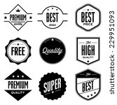 set of retro vintage badges and ... | Shutterstock .eps vector #229951093