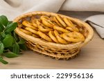 pretzels in the bowl on wooden... | Shutterstock . vector #229956136
