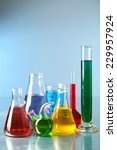different laboratory glassware... | Shutterstock . vector #229957924