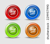 big offer colorful vector icon... | Shutterstock .eps vector #229957990