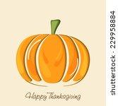 thanksgiving day celebration... | Shutterstock .eps vector #229958884