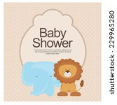 baby shower invitation. vector | Shutterstock .eps vector #229965280