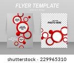 flyer template abstract design... | Shutterstock .eps vector #229965310