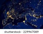 satellite map of european...