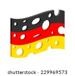 flag of germany  as a slice of... | Shutterstock .eps vector #229969573