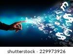 business  touch screen money... | Shutterstock . vector #229973926