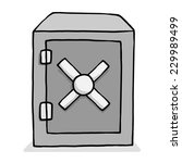 safe box   cartoon vector and... | Shutterstock .eps vector #229989499