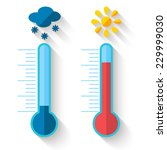 flat design of thermometer... | Shutterstock .eps vector #229999030