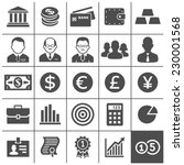 finance and business icons.... | Shutterstock .eps vector #230001568