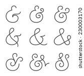 nine different elegant and... | Shutterstock .eps vector #230003170